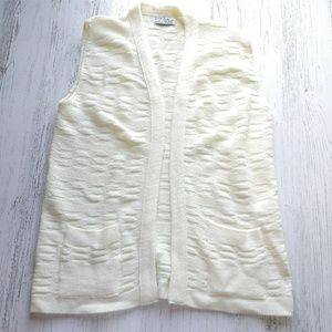 Cuddle Knit VTG Sweater Vest Textured No Size Tag